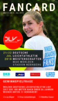 neuer & gebrauchter designer Fabrik Schuhwerk DLV-Fancard-Aktion für Deutsche Meisterschaften in Nürnberg ...